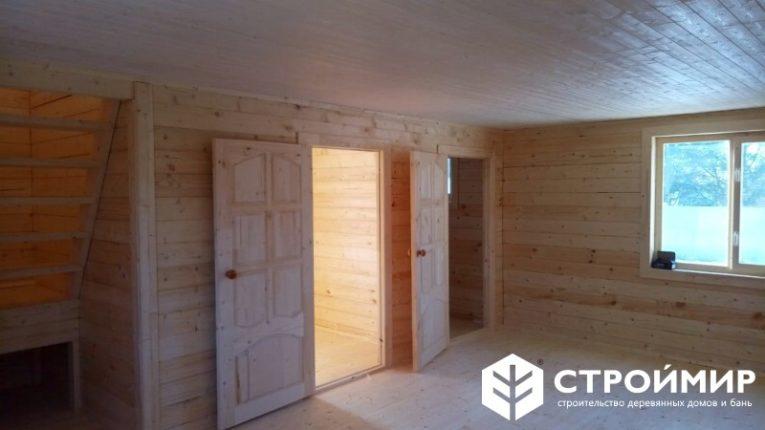 Дом-баня 6х8 из бруса