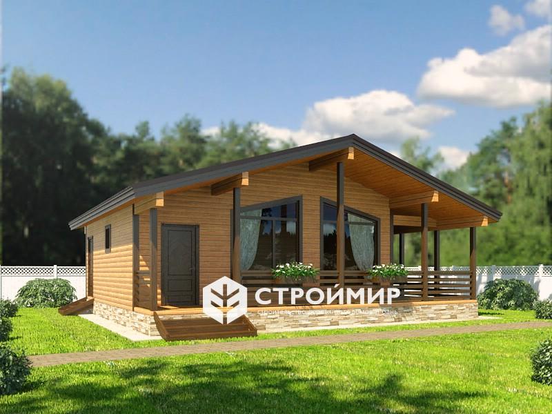 Дом из бруса 8,5х10 (проект Д-1)