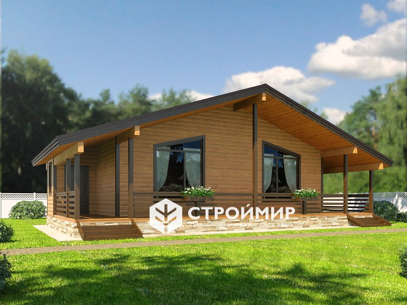 Дом из бруса 11,5х14 (проект Д-8)
