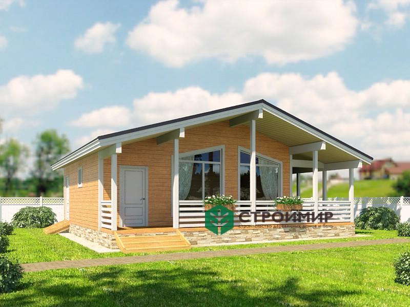 Каркасный дом, проект К-125