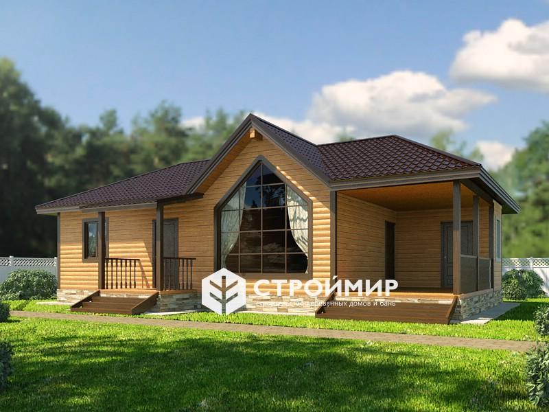 Дом из бруса, (проект Д-128)