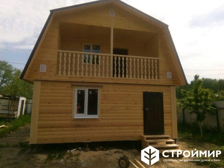 Дом-баня 6х8 с балконом