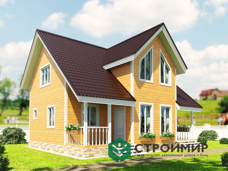 Каркасный дом 8х9 (проект К-2)