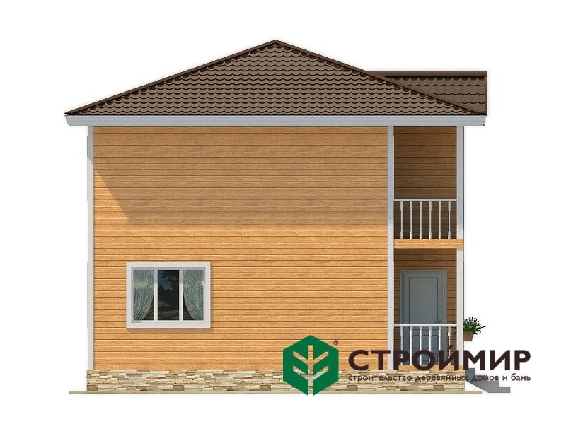 Двухэтажный каркасный дом 8х8