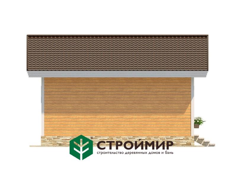 Одноэтажный каркасный дом 7х8 (проект К-7)