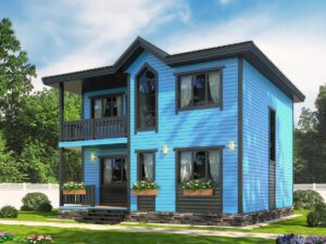 Двухэтажный каркасный дом 8х8 (проект К-5)