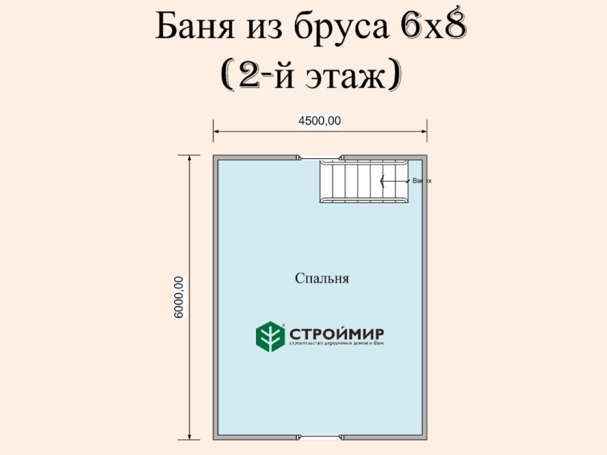 Баня из бруса с террасой - беседкой (проект Б-67)