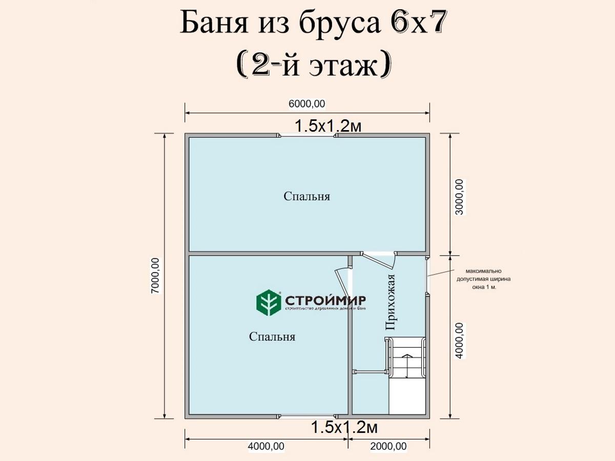 Баня из бруса 8х7, проект Б-75