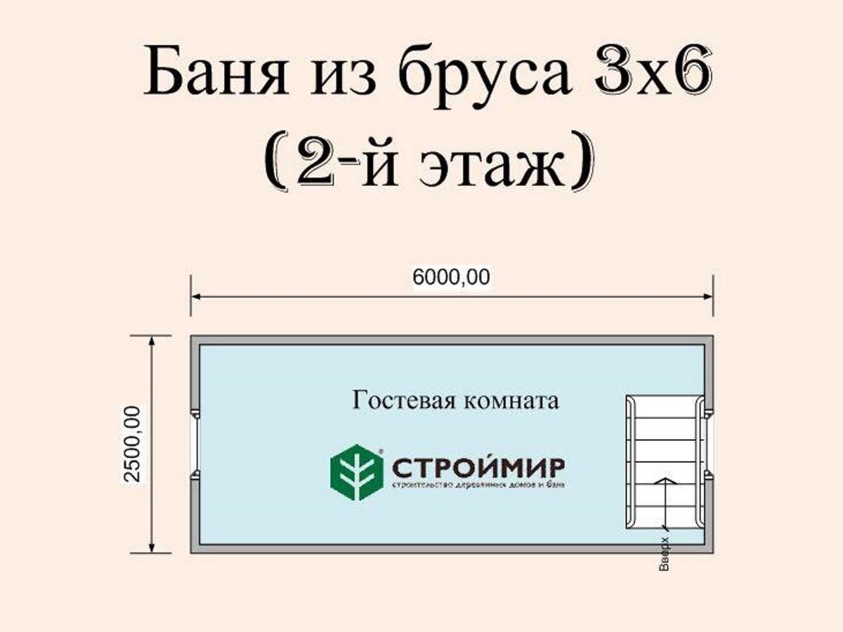Баня 3х6 с мансардой, проект Б-28