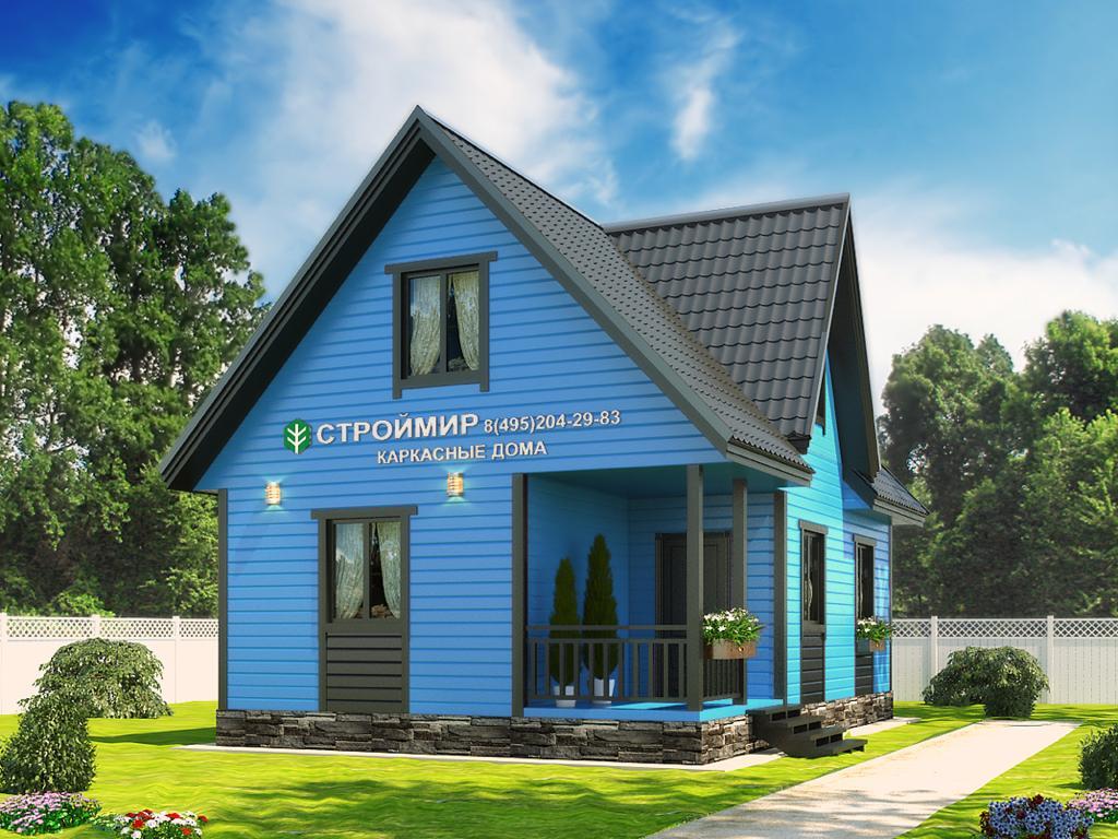 Каркасный дом 6х9 с мансардой (проект К-1)