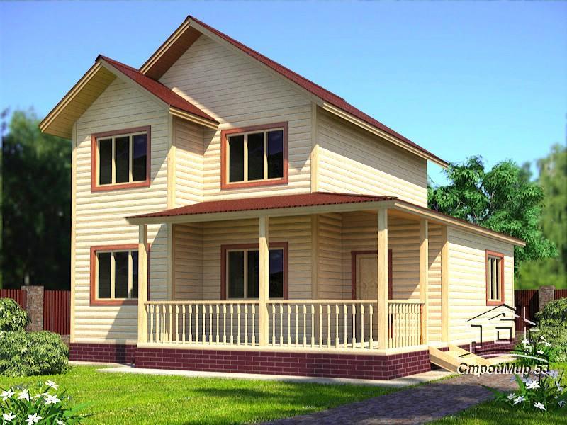 Проект двухэтажного дома 8,5х9,5 (проект Д-89)