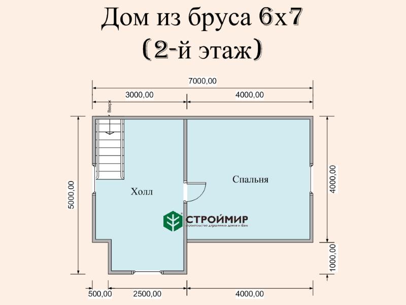 Дом из бруса с дормером (проект Д-101)