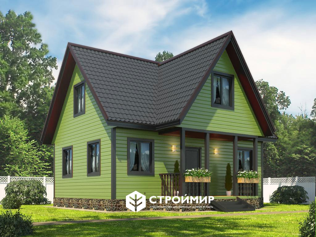 Каркасный дом 7,5х8, проект К-32