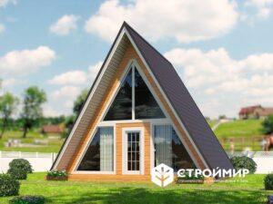 Каркасный дом-баня 8х8, проект К-30