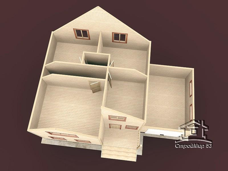 Дом 8х8 с гаражом (проект Д-76)