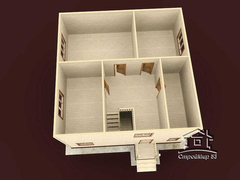 Двухэтажный дом 9х9 (проект Д-98)