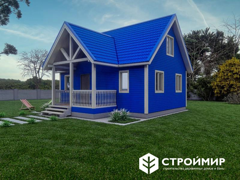 Дом каркасный 6х8 с мансардой (проект К-138)