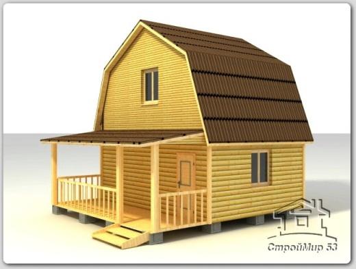 строительство брусового дома 6х6 из бруса