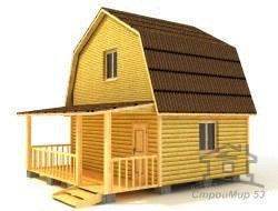 Проект брусового дома 6х6