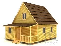 Проект дома 8х6