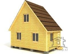 Дом из бруса 4х6