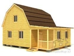 Проект брусового дома 7х9
