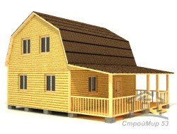 Проект дома 9х8