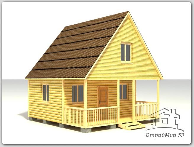 строительство дачного дома 6х6 из бруса