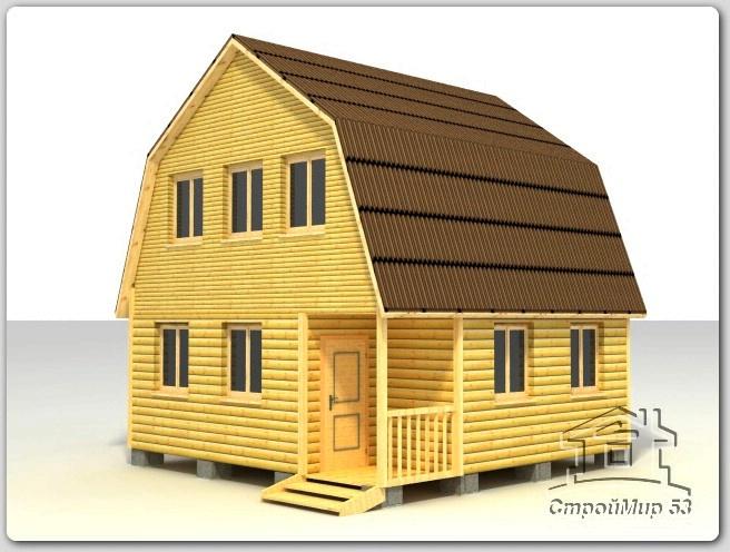 строительство деревянного дома 6х6 из бруса