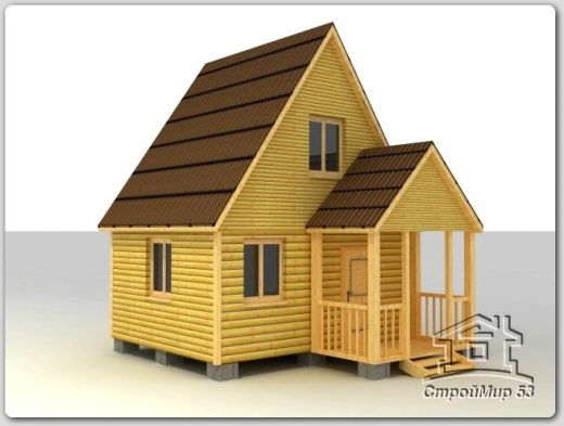 строительство дома 5х4 из бруса