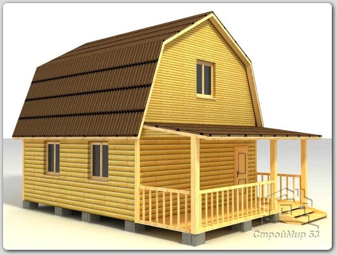 строительство дома 6х7,5 из бруса