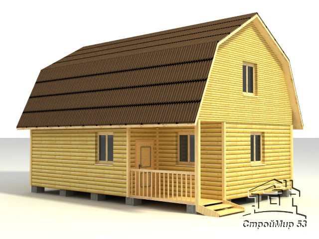 строительство дома 9х6 из бруса