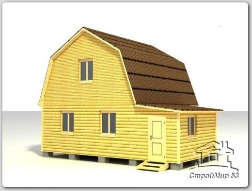 строительство дома 7х8 из бруса