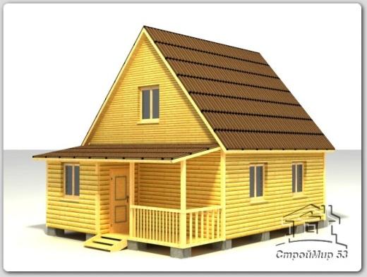строительство дома 8х6 из бруса