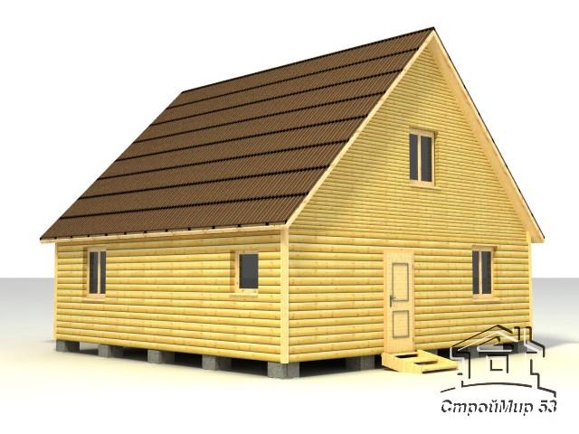 строительство дома 8х8