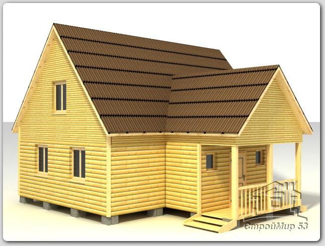 строительство дома 9х9 из бруса