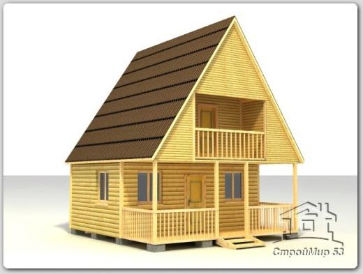 строительство дома 6х6