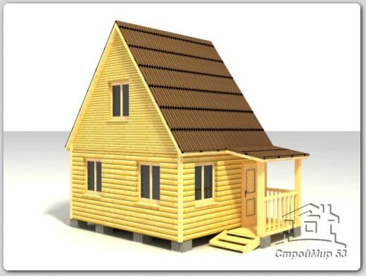 строительство домика 4х5 из бруса