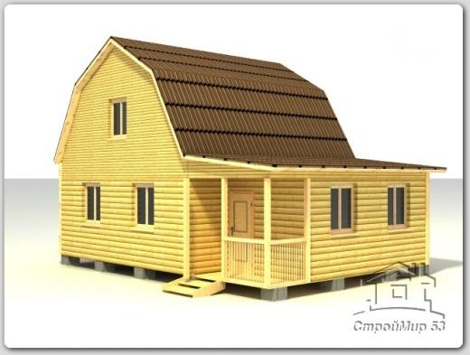 строительство дома 7х9 из бруса