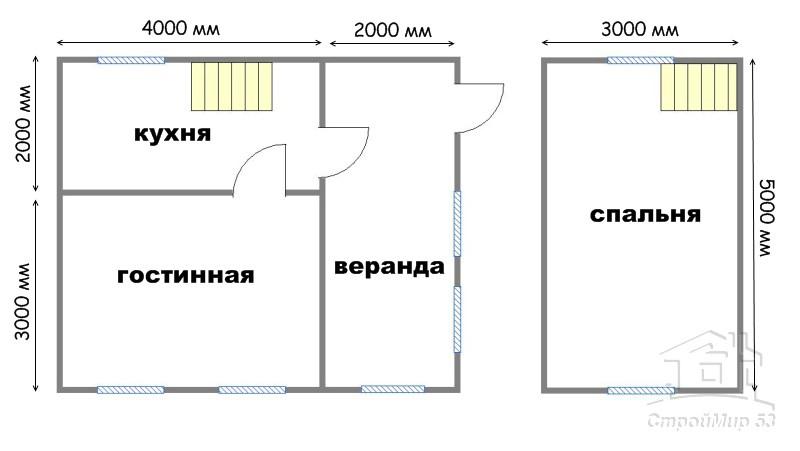 план дома 5х6