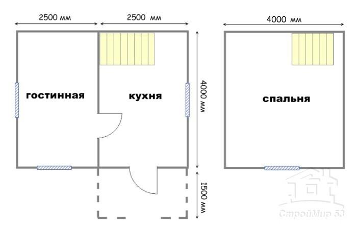 план дома 4х5