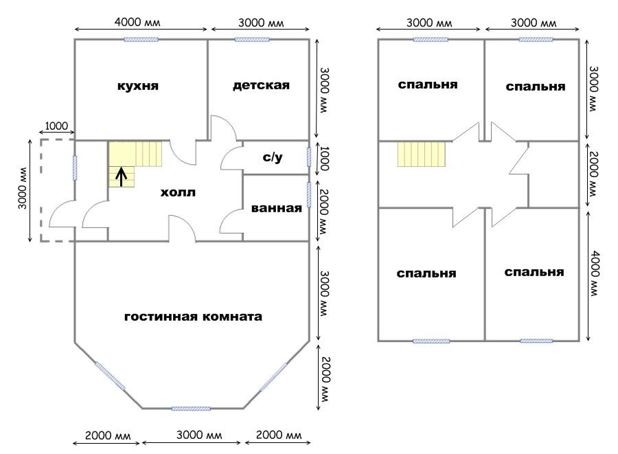 Строительство дома 11х7 из бруса