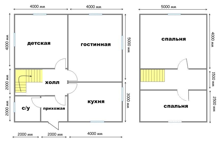 Планировка дома 6 на 8 с мансардой: проекты, фото.