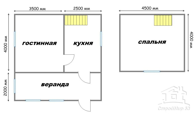 план дома 6х6 с верандой