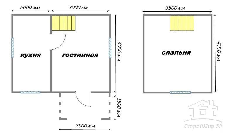 план дома 5х4
